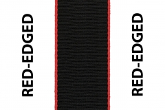 Red Edged Black Seat Belts Webbing