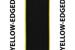 Yellow Edged Black Seat Belts Webbing