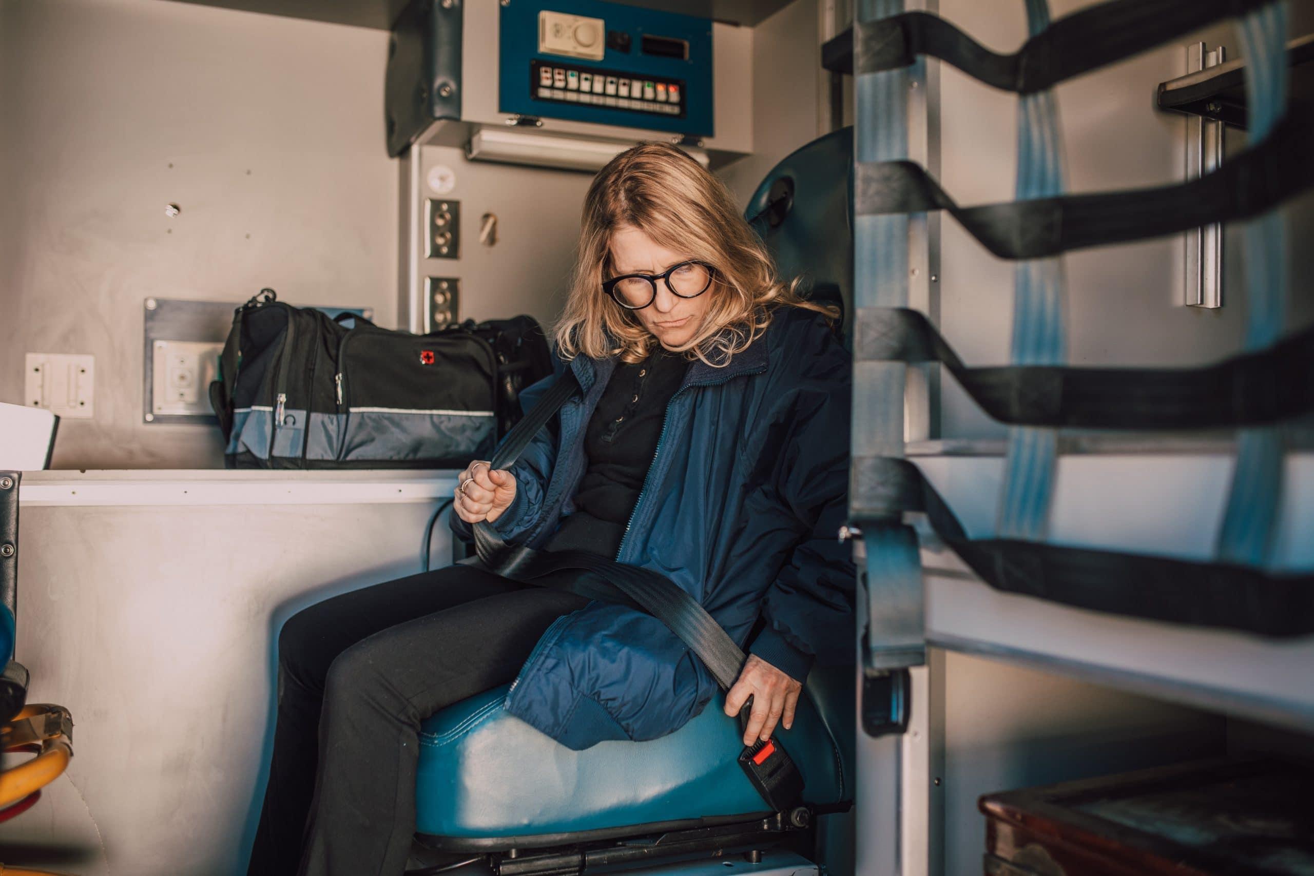 woman wearing seatbelt