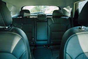 backseat of car