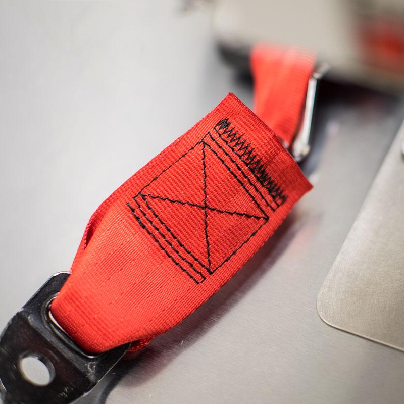 Seat belt webbing replacement service